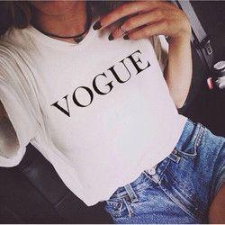 Marque de mode D'été T Shirt Femmes VOGUE Imprimé Femme T-shirts Femmes O-cou Tops T-shirt Femme Harajuku Casual Vêtements