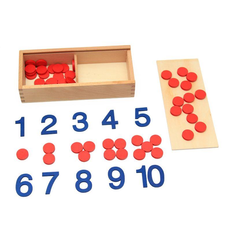 Jouet bébé Montessori cartes et compteurs numéro de mathématiques éducation de la petite enfance formation préscolaire enfants jouets Brinquedos Juguetes