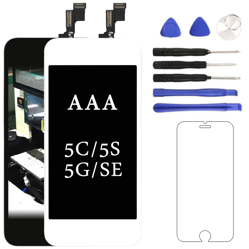 Mobile Phone Part For iphone 5 5S 5C SE LCD Display AAA With Touch Screen Digitizer Assembly Black&White For iphone LCD Pantalla