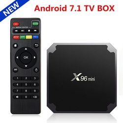 Original X96 mini Android 7.1 OS Smart TV Box Amlogic S905W Quad Core 2GB 16GB 2.4GHz WiFi X96mini Media Player Set top box