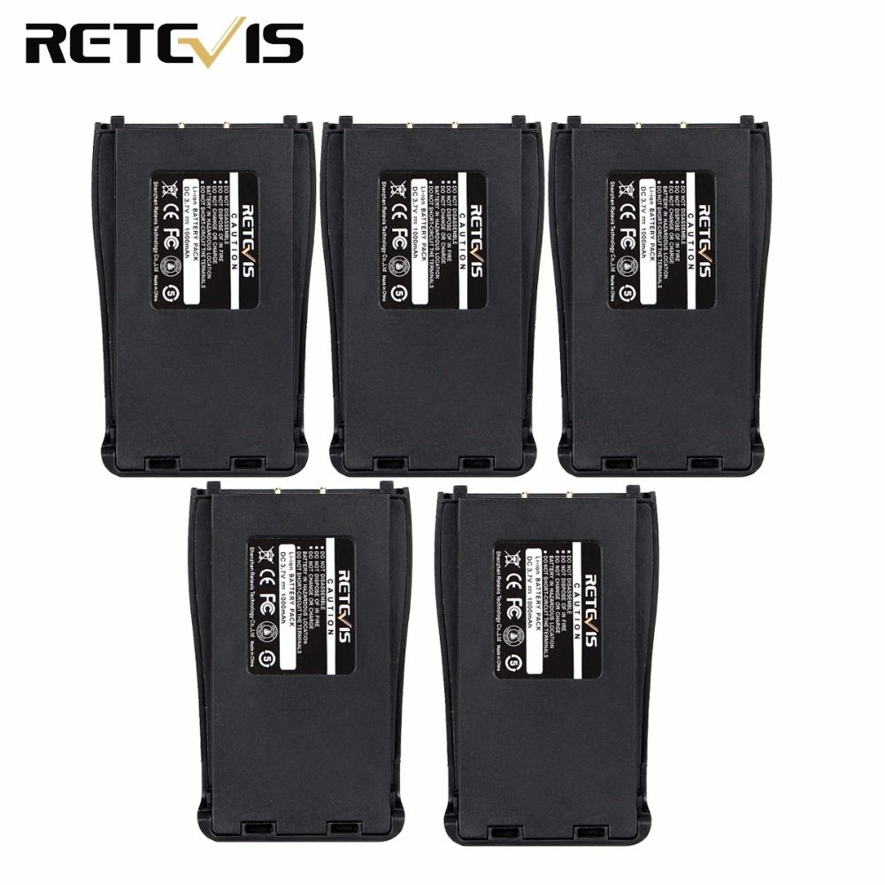5pcs Original 1000mAh Li-ion Battery 3.7V For Walkie Talkie Retevis H777 H-777 Baofeng 888S Bf-888s