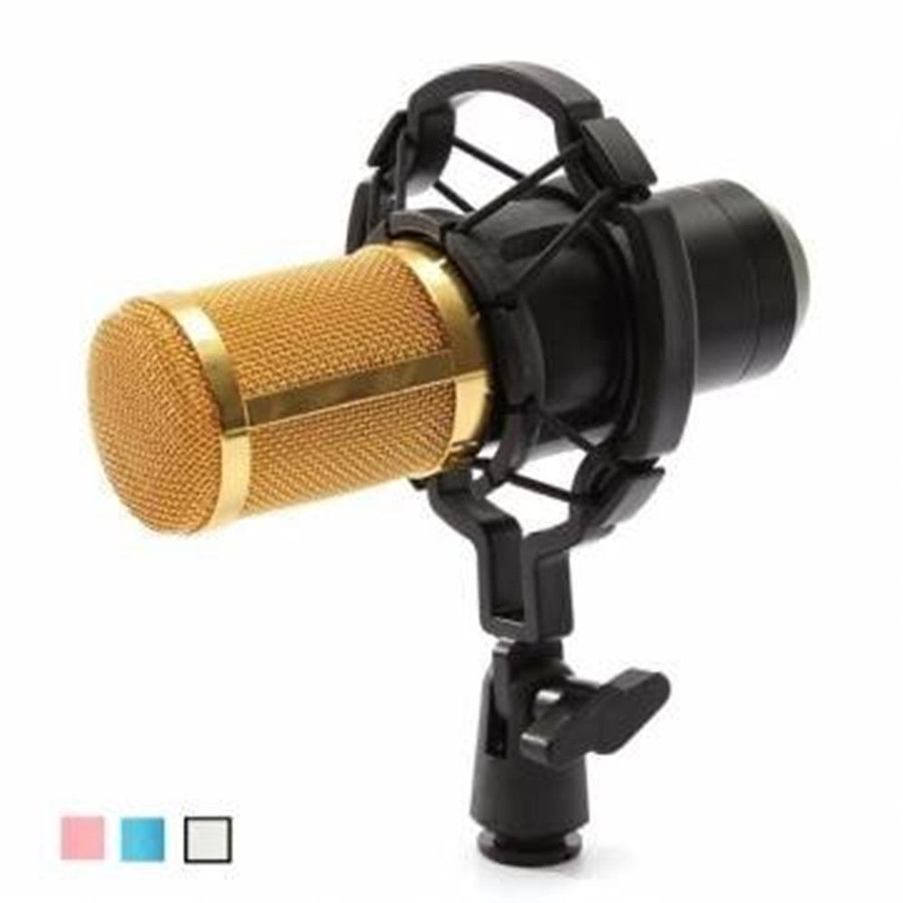 Mikrofon Professional BM 800 bm800 Condenser Sound Recording Microphone with Shock Mount for Radio Braodcasting Singing Black