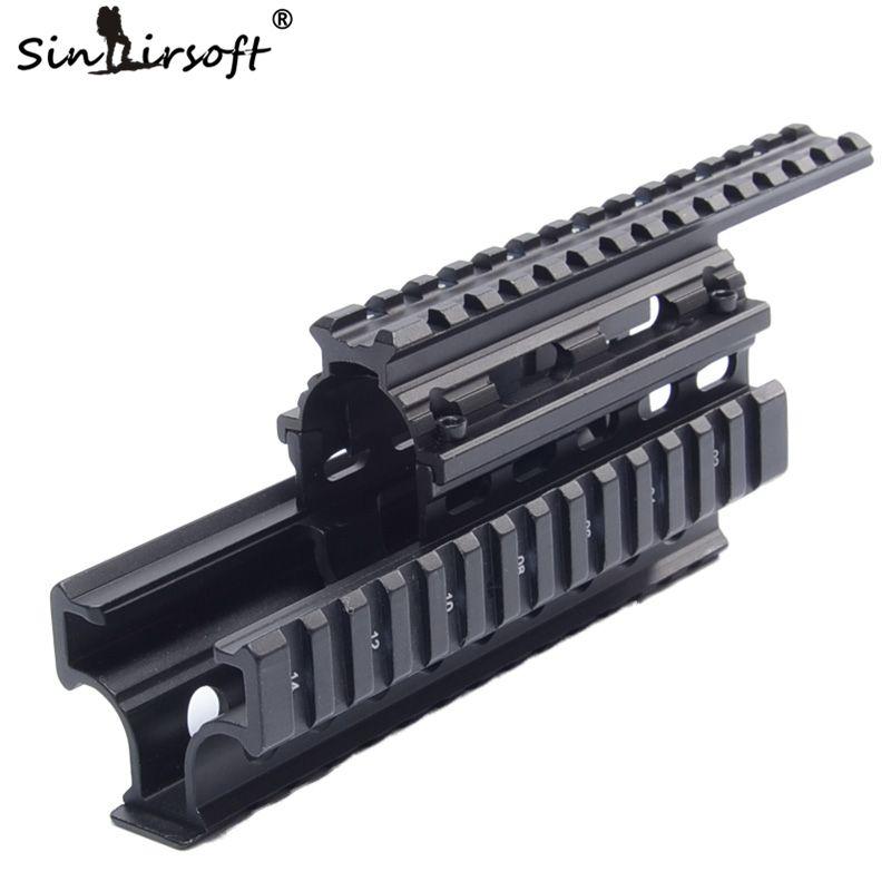 AK 47 универсальный Пикатинни Уивер Quad Rail systerm приемник 20 мм кронштейн для 47 и варианты охоты цевье крышка
