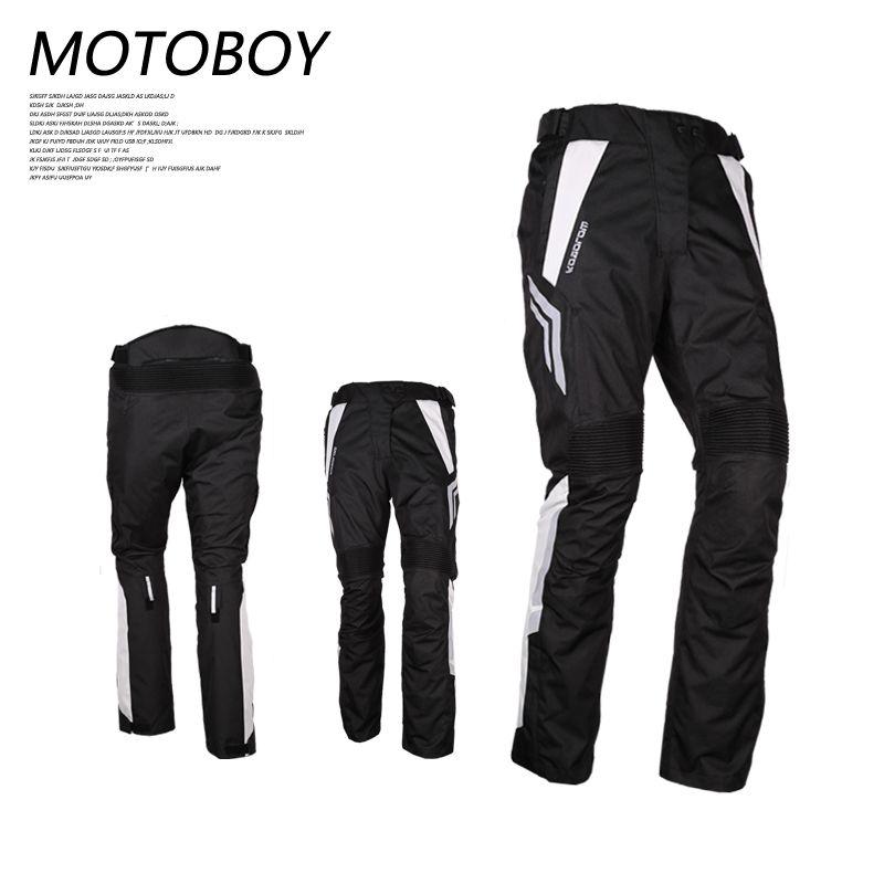 M 3XL 4XL Motorcycle Waterproof Pants Protective Gear Motoboy Black PU Leather Lining Full Length Ltd Motocross Racing pants Men