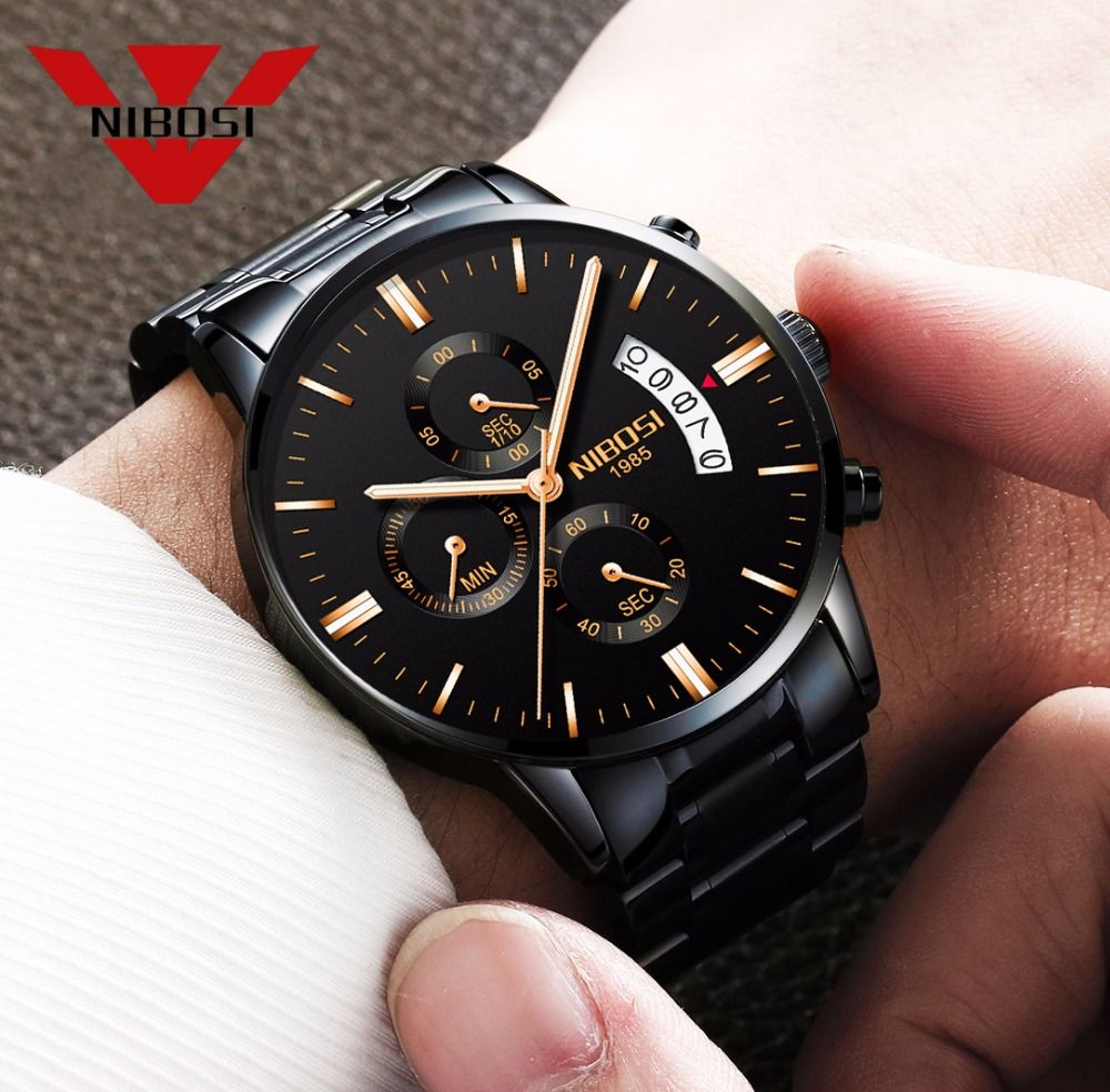 Relogio Masculino Men Watch Luxury Famous Top Brand Men Dress Watch Military Quartz Wristwatches Saat Metal&Leather&Milanes Band