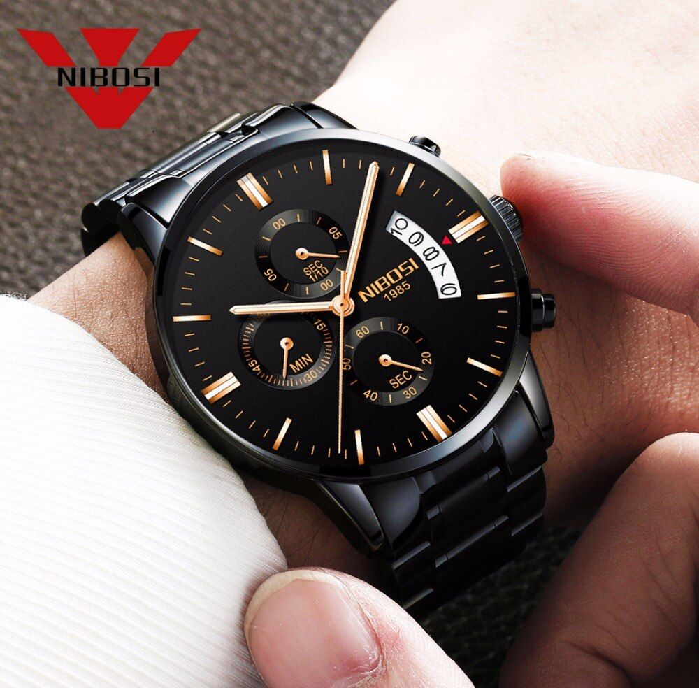 Relogio Masculino Men Watch Luxury Famous Top Brand Men <font><b>Dress</b></font> Watch Military Quartz Wristwatches Saat Metal&Leather&Milanes Band