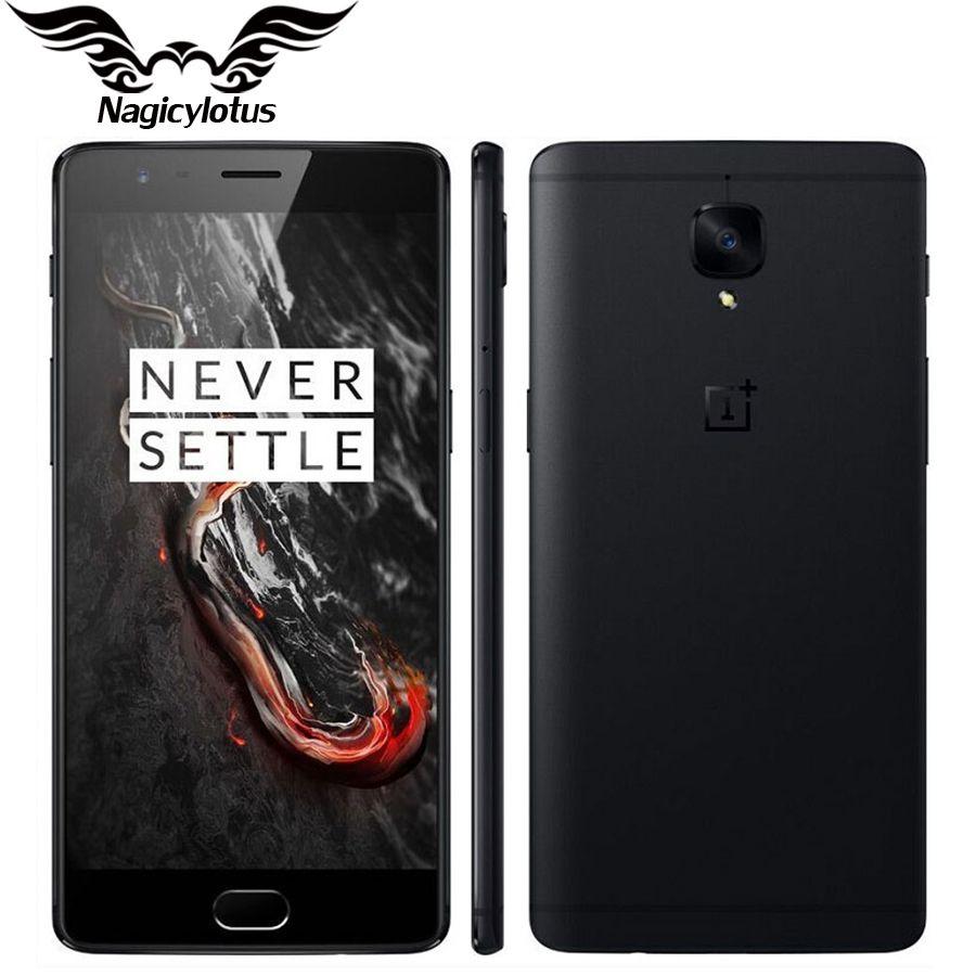 Nouvelle D'origine Oneplus 3 T A3010 4G téléphone portable Snapdragon 821 Quad Core 5.5