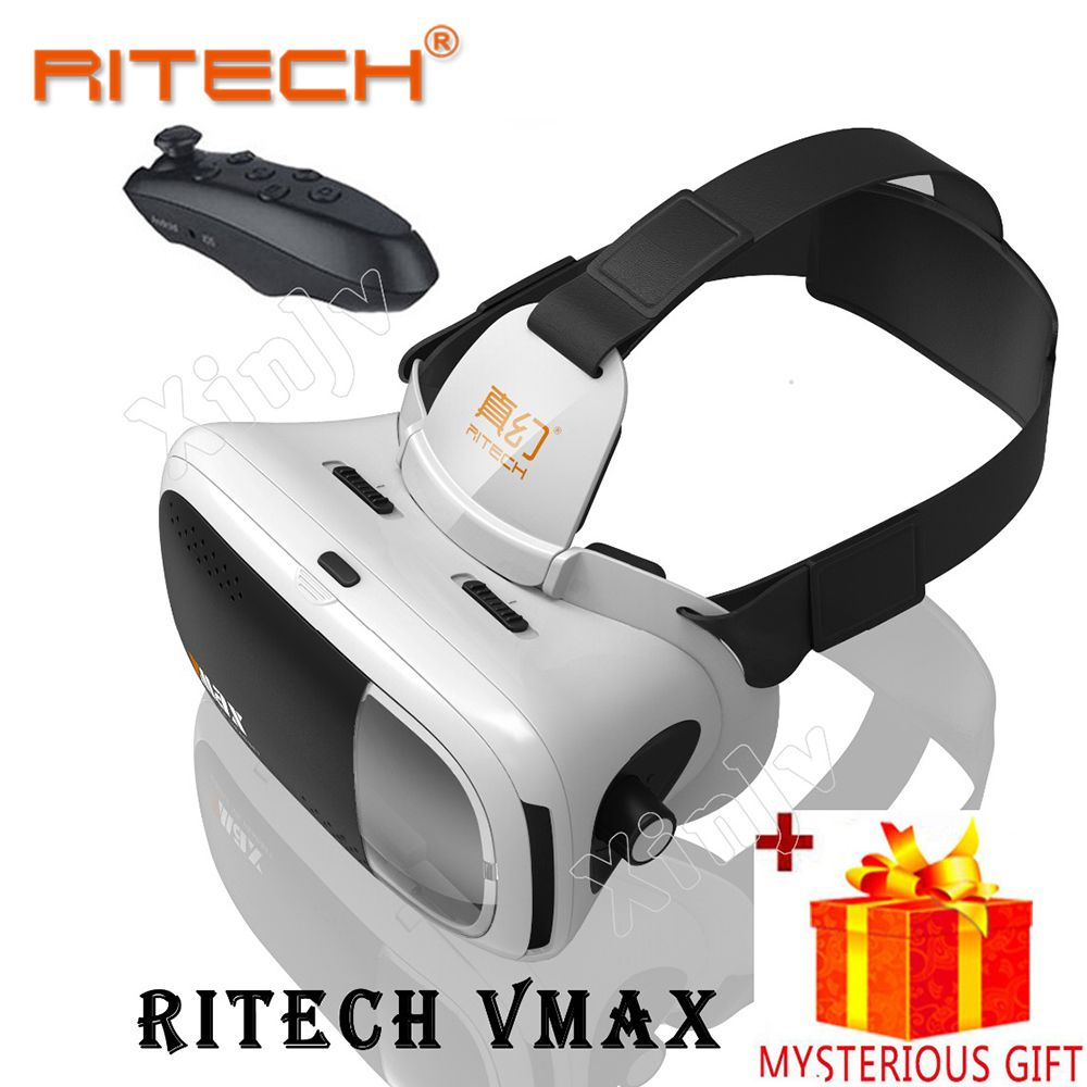 RITECH VMAX Video Anaglyph 3 d VR Box 3D Virtual Reality Glasses Goggles For Smartphone Smart Google Cardboard Headset Helmet