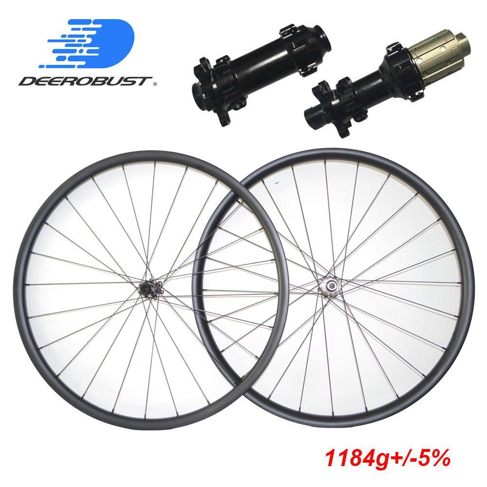 1184g 29er MTB XC 24mm x 30mm Asymmetrische Hookless Klammer Tubeless Mountainbike Carbon Räder 29 zoll laufradsatz 29