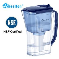Wheelton Water Filter Pitcher 4.5 Cup Household Kitchen & Outdoor Reduce lime-scale BPA free purifier certified By NSF
