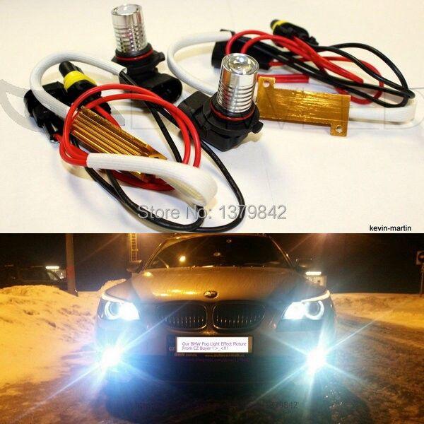 Бесплатная доставка автомобиль-Стайлинг H11 LED Противотуманные фары белый яркий светодиод для 2002-2011X5 BMW E53 E70