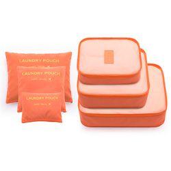 6 шт./компл. модная нейлоновая Водонепроницаемая женская сумка для путешествий, сумка для путешествий, сумка-Органайзер, дорожная сумка для ...