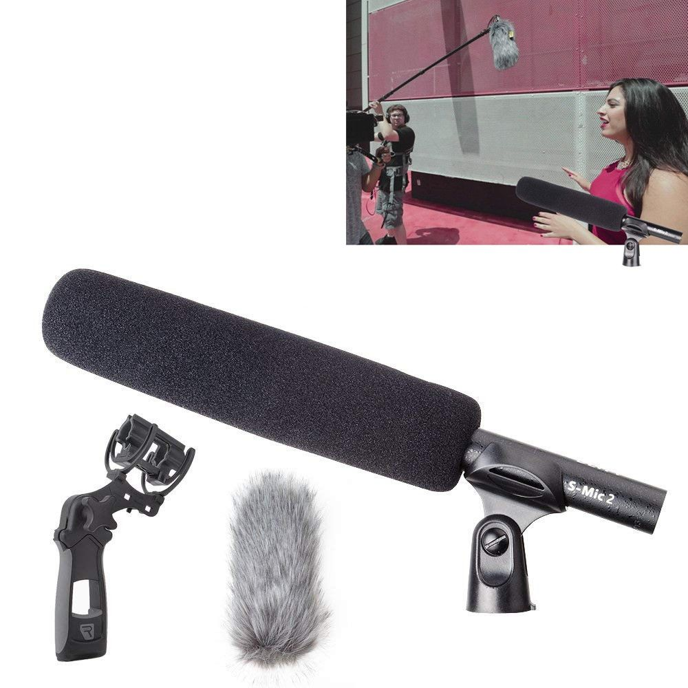 Deity S-Mic 2 Professional Location Kit Mic with Super Low Noise Directional Windscreen Microphone for Hi-Res Broadcast
