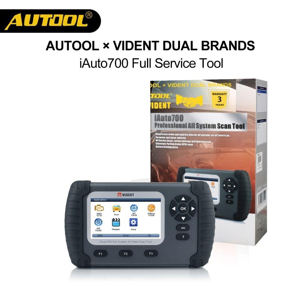 AUOOLxVident iAuto700 Automotive OBD Auto Full System-Diagnose-Motor Öl EPB EPS ABS Airbag Reset Batterie Konfiguration Werkzeug