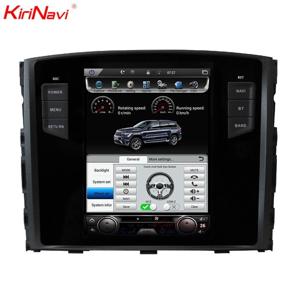 KiriNavi Vertikale Bildschirm Tesla Stil Android 6.0 10,4 Auto Multimedia-DVD-Spieler Für Mitsubishi Pajero Radio GPS Mit Bluetooth