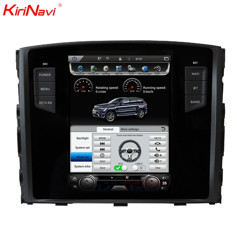 KiriNavi Vertical Screen Tesla Style Android 6.0 10.4 Car Multimedia DVD Player For Mitsubishi Pajero Radio GPS With Bluetooth