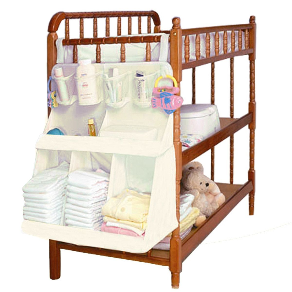 Baby Bedding Set Accessories Waterproof Diapers Bedside Organizer Baby Crib Children's Bed Hanging Bag Portable Storage Bags