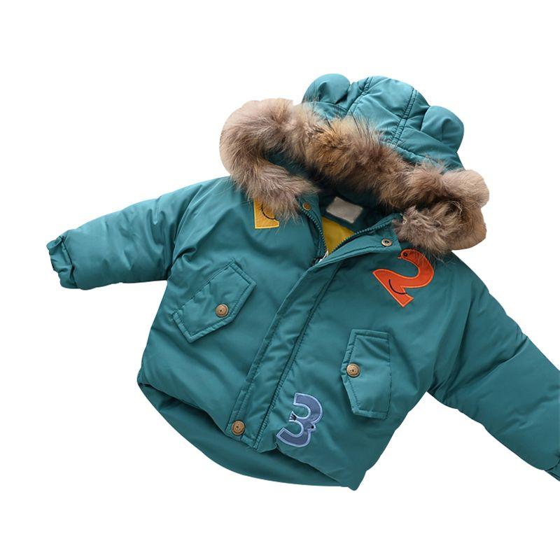 Neue Mode Warme Winter Kleidung Jacke Kinder Kleidung Windjacke Jacken Casual Mit Kapuze Mädchen Dicken Warmen Mantel 2-7 T
