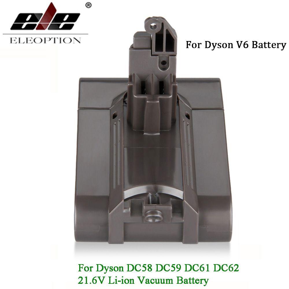V6 21.6 V 3000 mAh Li-ion Batterie pour Dyson V6 Batterie pour DC58 DC59 DC61 DC62 Aspirateur SV09 SV07 SV03 SV04 SV06
