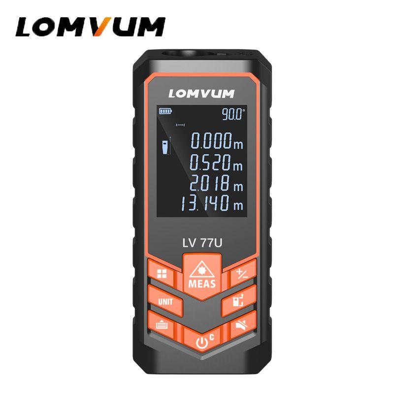 LOMVUM 66/77U Handhold Trena Laser Range Finder Jacht Digital Laser Distance Meter Electrical Tape Measuring Tools 40M-120M