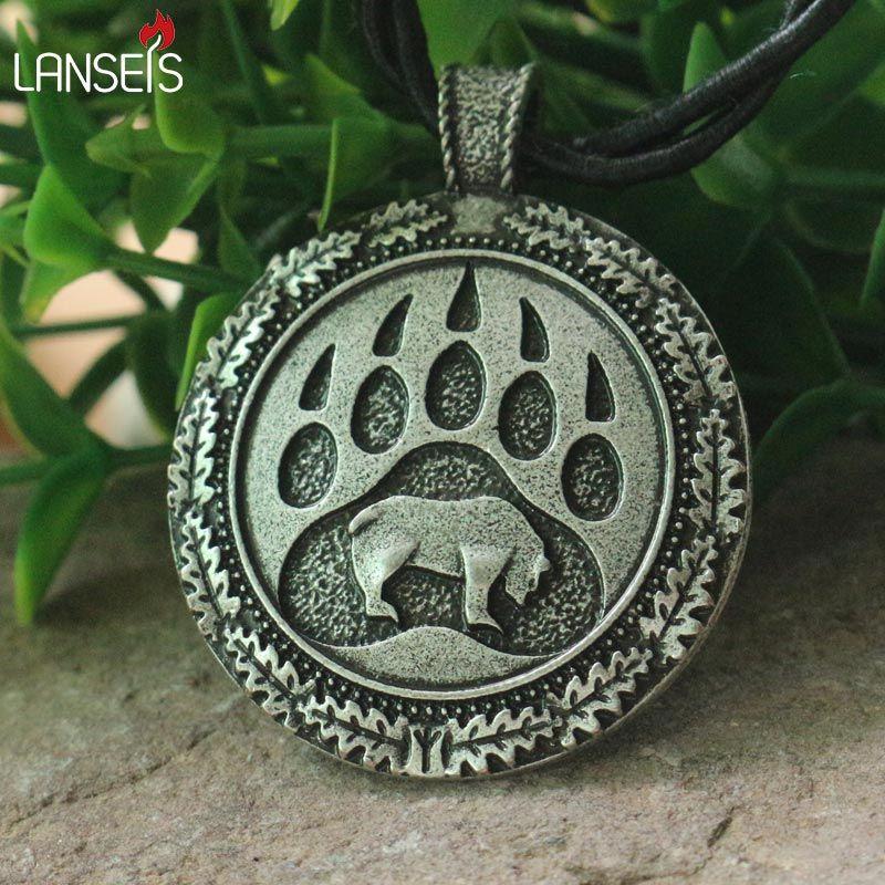 Lanseis 1 шт. Викинг Bear Paw кулон славянский медведь талисман Чрм языческих мужчины ожерелье Nordic кулон. celti талисман