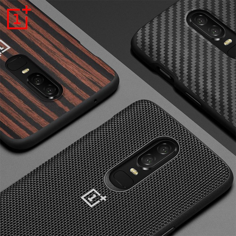 Original <font><b>OnePlus</b></font> 6 Bumper Case Material Aramid Fibers + Ebonywood+Nylon Case All-round Protection 100% Official Back Cover
