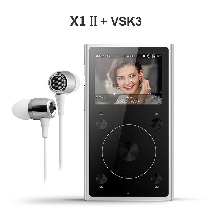Fiio X1 II X1 2nd gen (+ Earphone VSK3 )Dual mode Bluetooth 4.0 Portable High Resolution Lossless Music Player X1ii