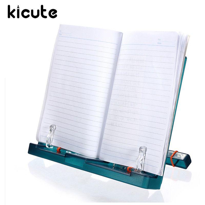 Kicute Réglable Portable Document En Plastique Livre Stand Titulaire Cadre de Lecture Bureau Titulaire Tilt Lutrin Bureau Fournitures Scolaires