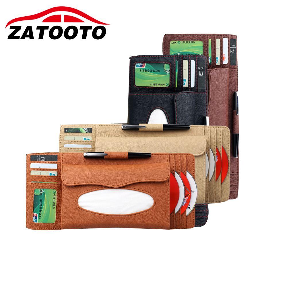 Universal Car Visor Clip Holder Car Visor Card Pen CD Holder Organizer Tissue Boxes Stowing Tidying Car Accessories