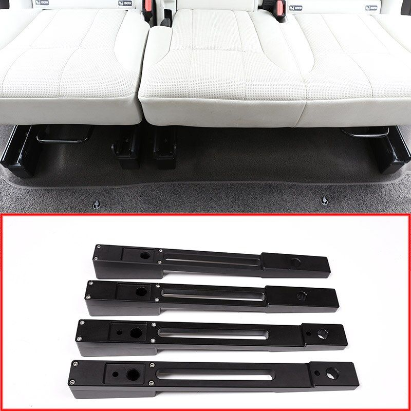 Aluminium legierung Auto Hinten Sitz Erhöhung Pad Kits Streifen Trim Für Land Rover Discovery 5 2017 2018 Auto Zubehör 4 teile/satz