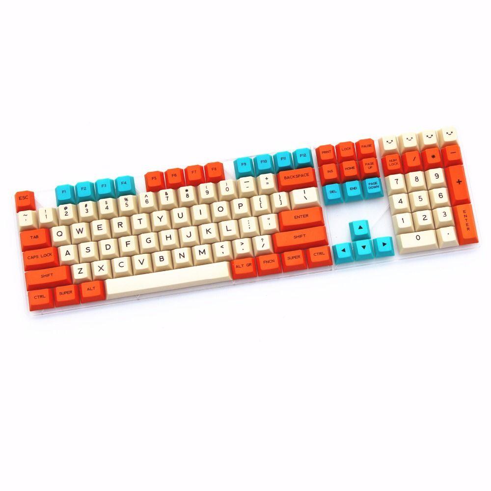 Leidenschaftlich thema keycap 108 PBT keycap Farbstoff-Sublimiert ANSI kirsche profil mx-schalter keycap für mechanische gaming-tastatur