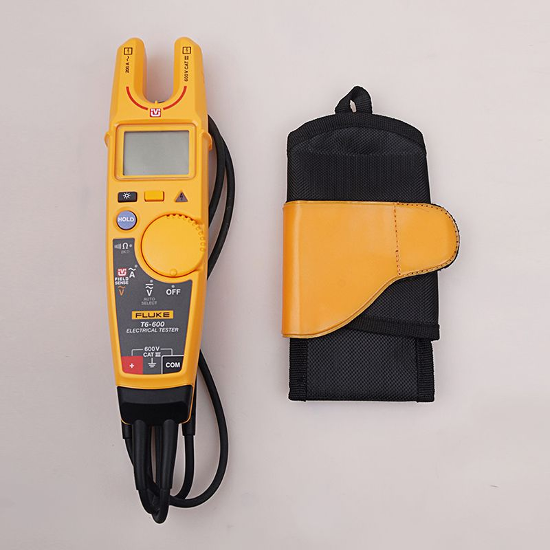 Fluke T6-600 Clamp Continuity Current Electrical Tester Non-contact Voltage Clamp Meter + Carrying Holster