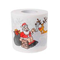 240 hojas 2 capas Navidad Santa Claus ciervos rollo de papel higiénico Sala decoración #6ee300006 #