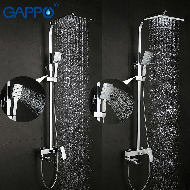 GAPPO shower faucet set bronze bathtub faucet mixer tap waterfall wall shower head chrome Bathroom Shower set GA2407 GA2407-8