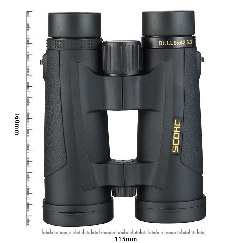 SCOKC 8x42 Compact Binoculars for Bird Watching Waterproof Bak4 Nitrogen Filled Telescope for travelling Hunting Birding