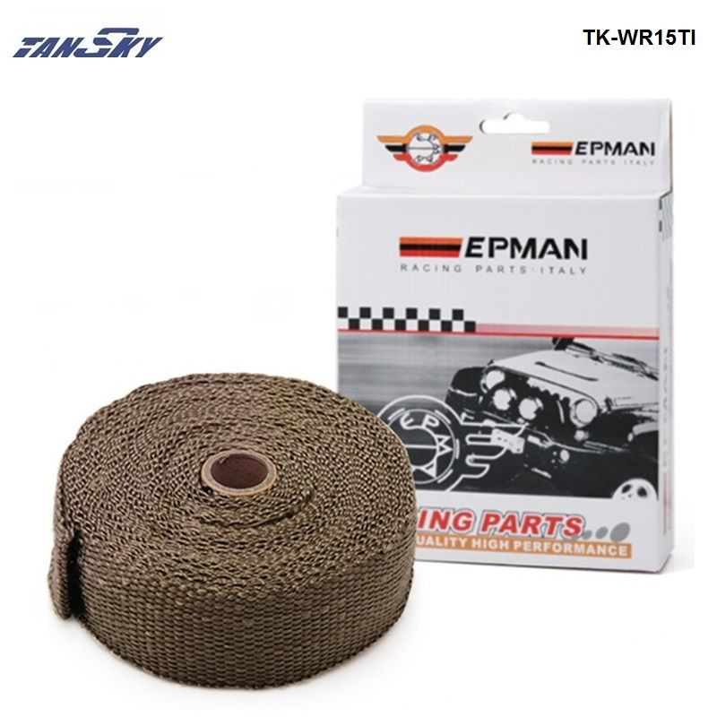 PERFORMANCE THERMAL HEAT MANIFOLD EXHAUST SYSTEM WRAP BROWN 2