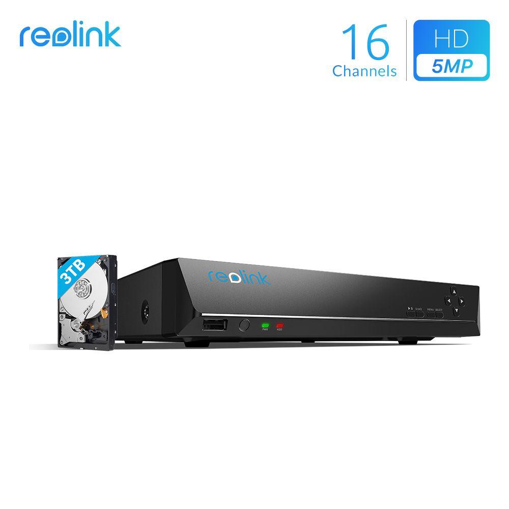 Reolink 16ch 5MP 4MP PoE Netzwerk Video Recorder mit 3 tb HDD NUR für Reolink HD IP Kameras RLN16-410