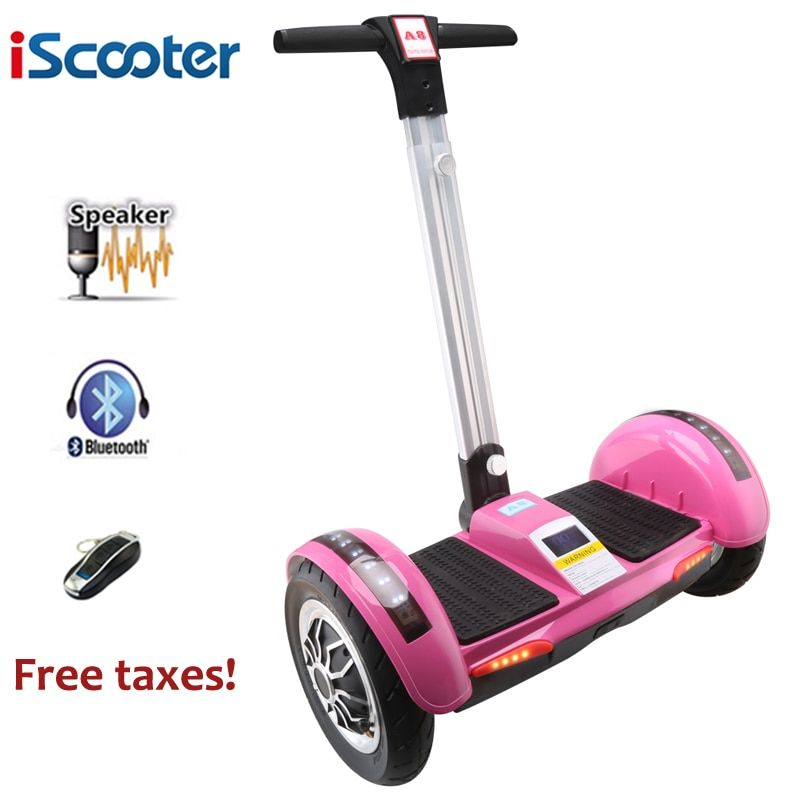 IScooter Hoverboard 10 zoll Elektroroller selbstausgleich roller Smart zwei rad skateboard Giroskuter Mit Griff Bluetooth