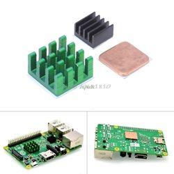 Pour Raspberry Pi 3 Modèle B En Aluminium Dissipateur de Chaleur + Support Raspberry Pi RPI Évier De Refroidissement CPU Dissipateur Thermique En Cuivre 2 Z07