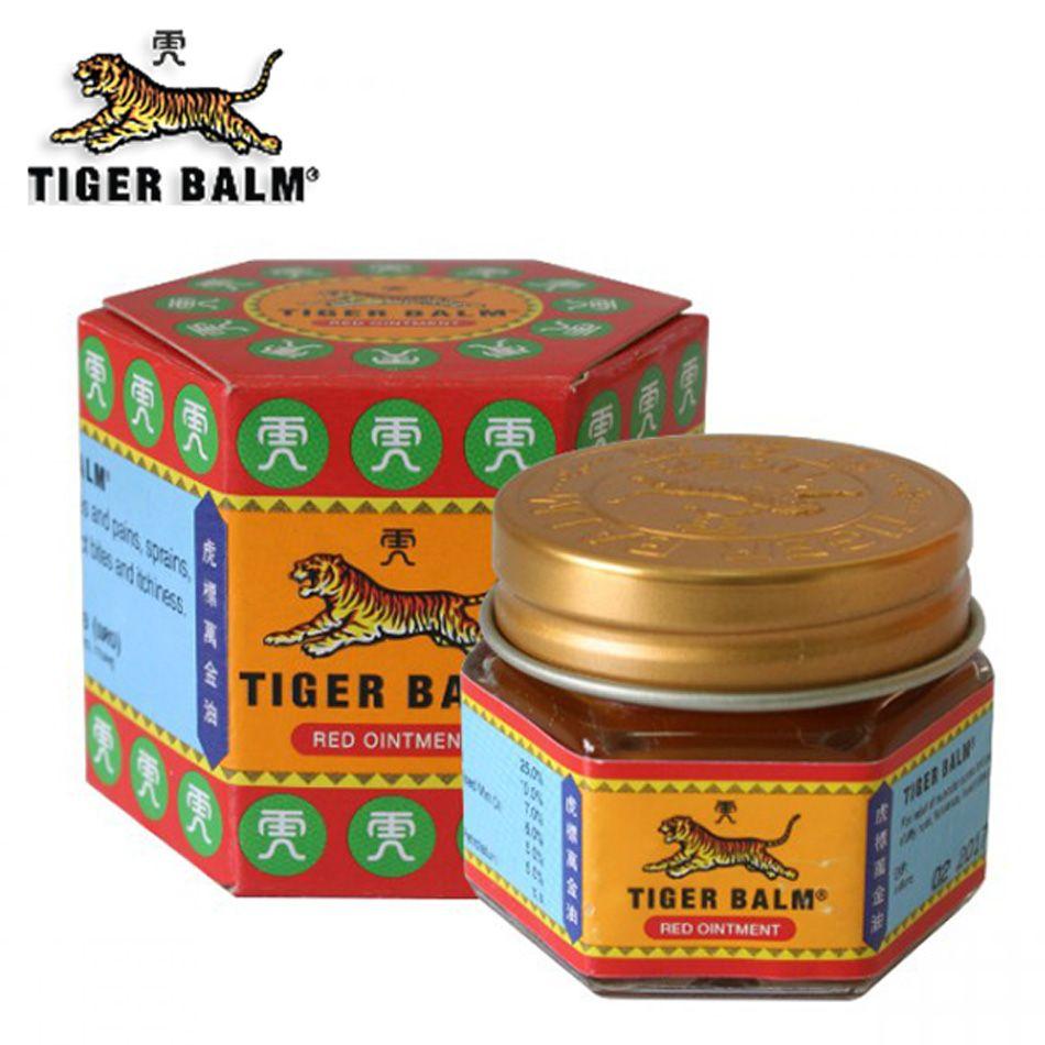 100% D'origine 19.4g Rouge Pommade Baume du Tigre Thaïlande Analgésique Pommade Musculaire Soulagement de La Douleur Pommade Apaiser démangeaison Huile De Massage
