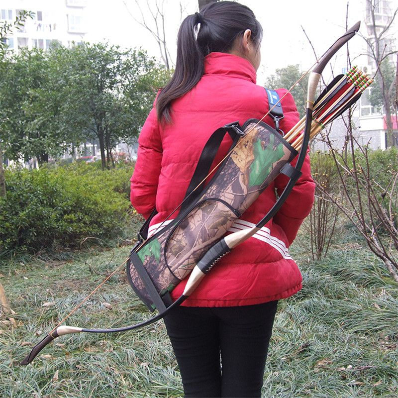 Outdoor Archery Camouflage Arrow Pot Arrow Waist Bag Hunting Bag Quiver For Hunting Bow Arrow Bag Hunting Equipment