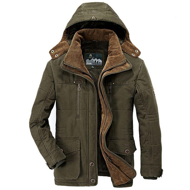 Militar Chaquetas hombres 2018 invierno Outwear windbreaker casual grueso caliente Abrigos largos mens parka jaqueta masculino militar chaqueta