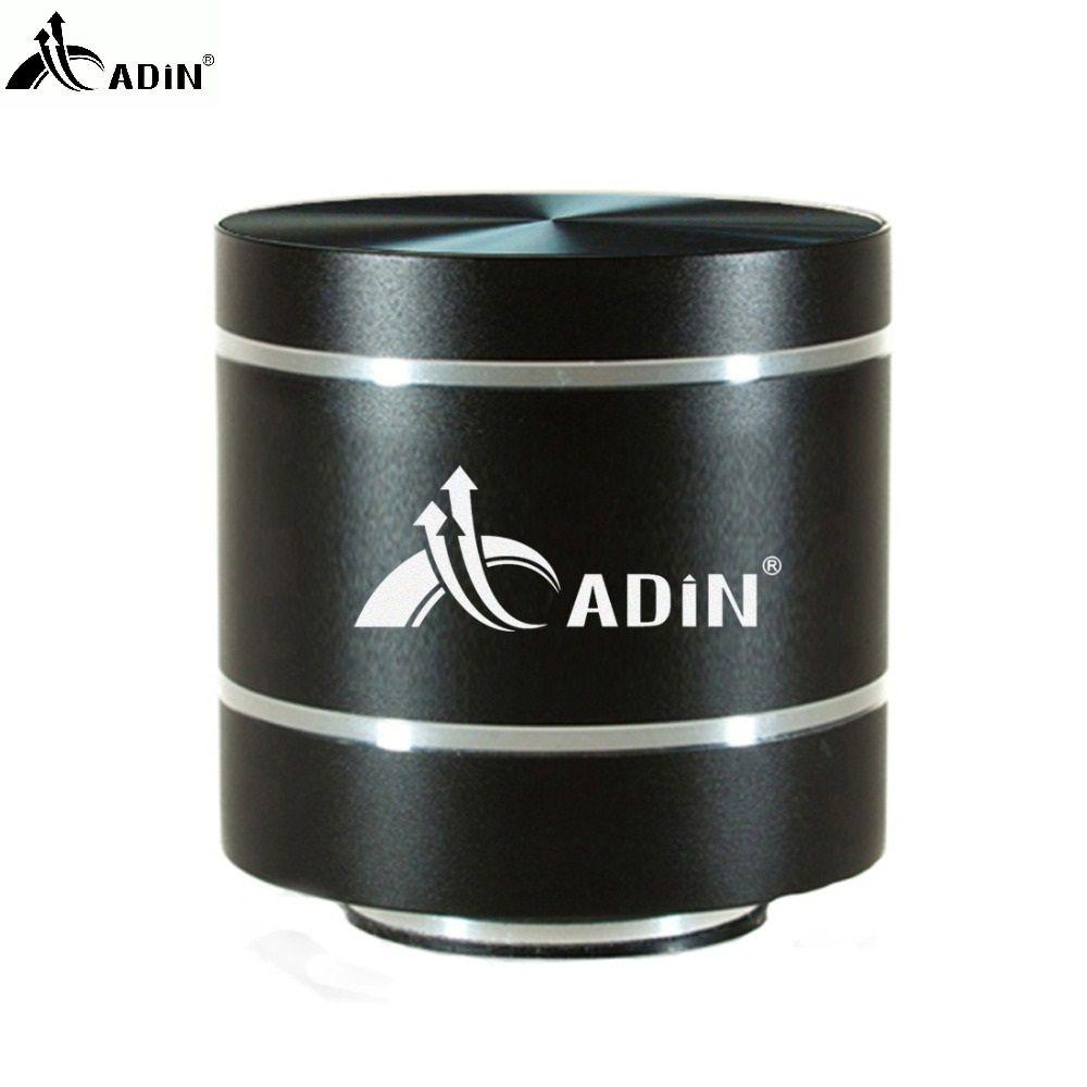 2017 ADIN HIFI Metal Vibration Speaker Mini Portable 5W Intelligent Remote Subwoofer Small Speakers TF Bass FM Radio Speakers