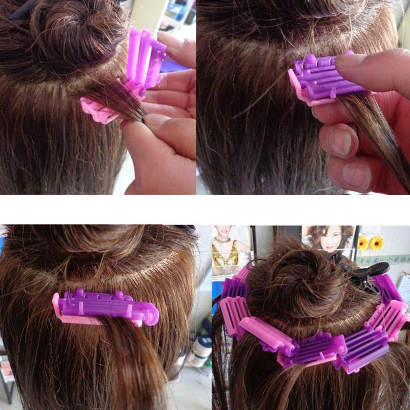 45pcs Styling Home Use Hair Rollers Hair Clip Wave Perm Rod Corn Curler Maker DIY Beauty Hairdressing Styling Tool FM88