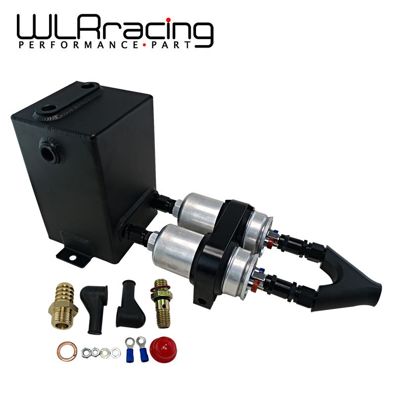 WLRING STORE- BK Fuel Pump Surge Tank 3L RAW ALU SURGE TANK Y Block Bracket FUEL PUMP DUAL EFI With 2PC 044 FUEL PUMP WLR-YBYH21