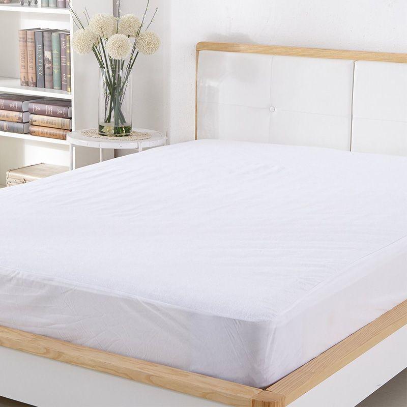 180X200 CM housse de matelas en coton éponge 100% imperméable hypoallergénique respirant matelas protecteur couverture de matelas anti-punaise de lit