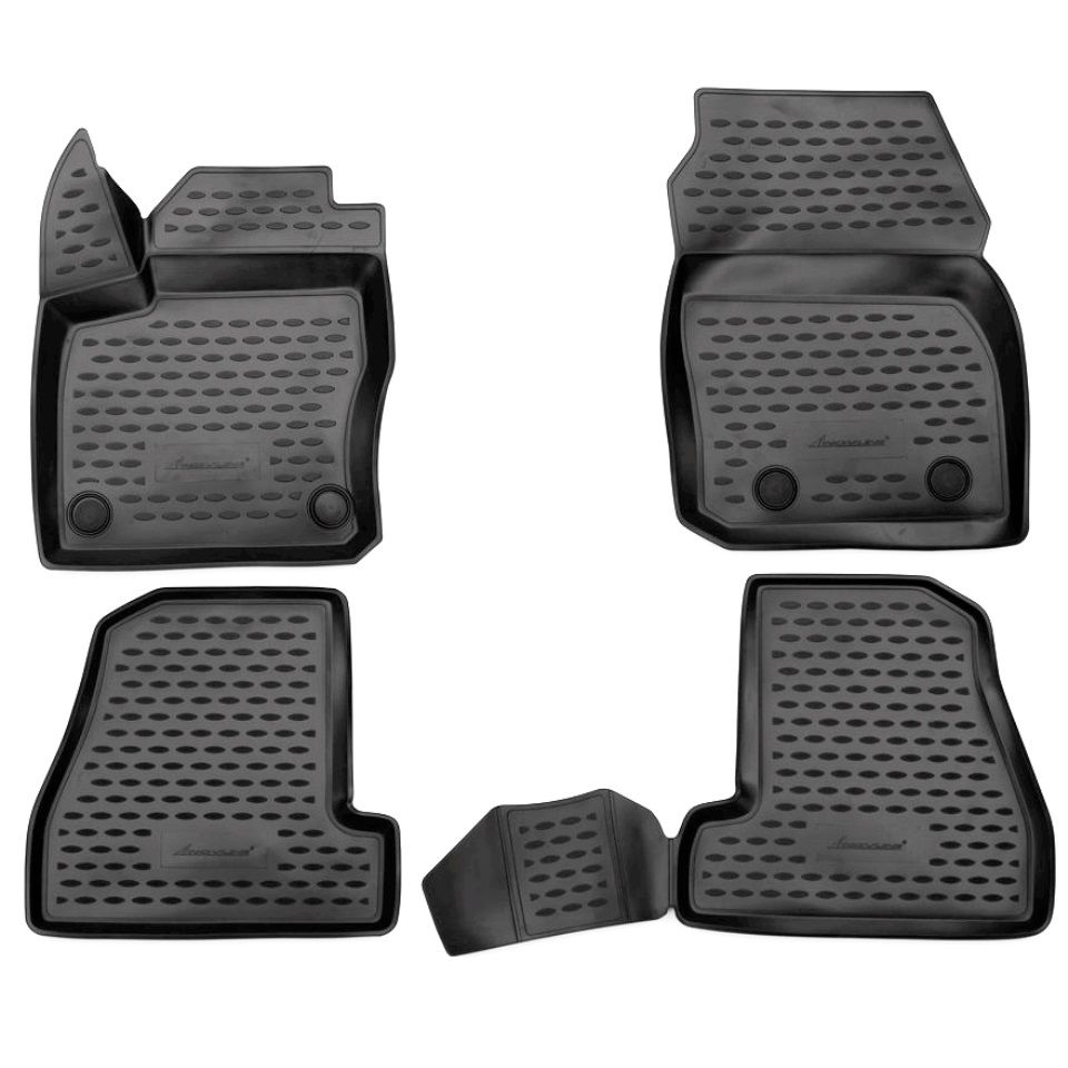 Für Ford Focus 3 2015-2019 3D boden matten in saloon 4 teile/satz Element ELEMENT3D1671210k