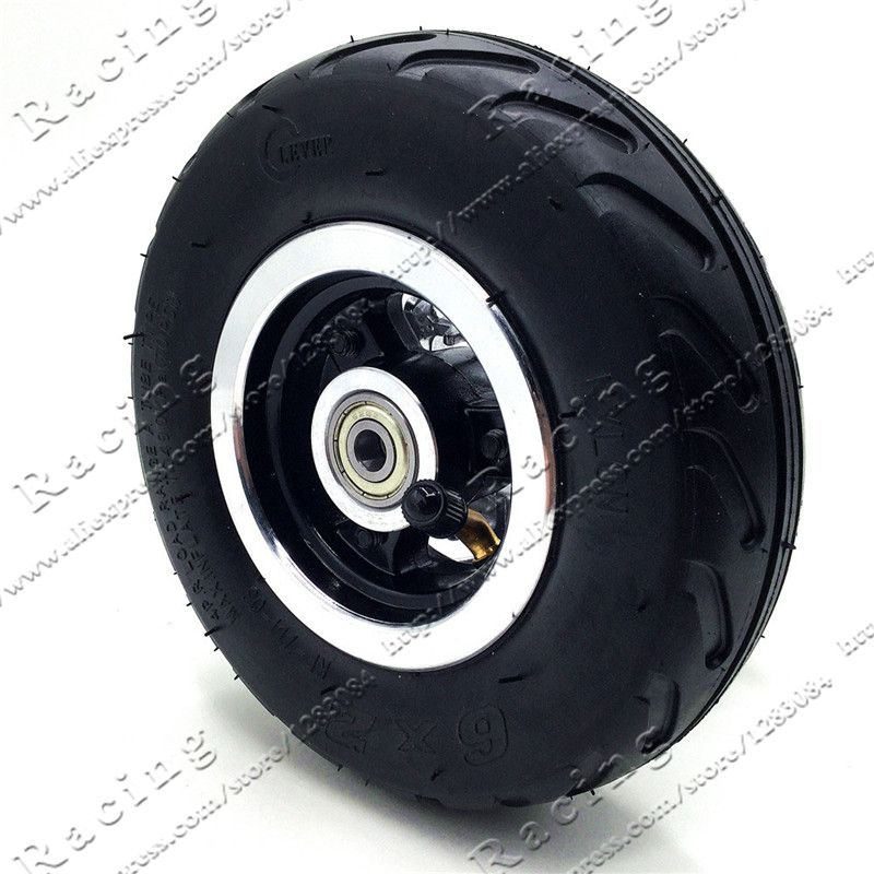6 inch 6X2 Wheels set Tire with Inner Tube Fit for Electric Scooter Wheel Chair Truck Use 6