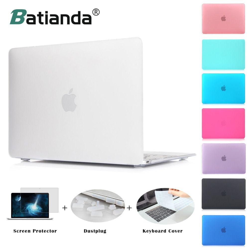 Batianda чехол для ноутбука Macbook Air Новые Pro retina 11 12 13 15 матовый чехол для mac book Pro touch Bar крышка клавиатуры