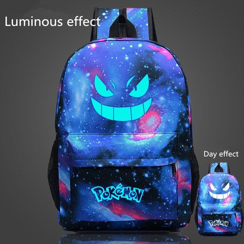 2016 vente chaude célèbre Pokemon Go sac à dos Pokemon Gengar sacs à dos sacs d'école pour les filles adolescentes Mochila